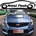 Flash Metallic Mist Blue Metal Vinyl Film Auto Wrap Folie Met Air Gratis Bubble Adhesive Auto Full Body Sticker 1.52x20 Meter