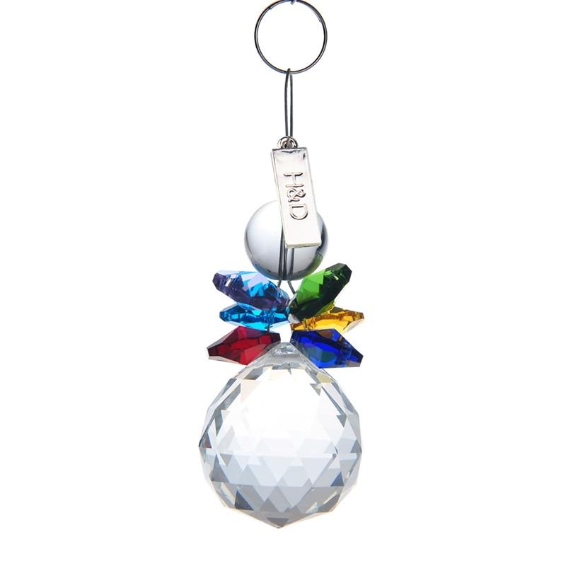 11Colors Rainbow Maker Crystal Suncatcher Prism Pendant Handmade Feng Shui Wedding Decor Xmas Decor Home Accessories