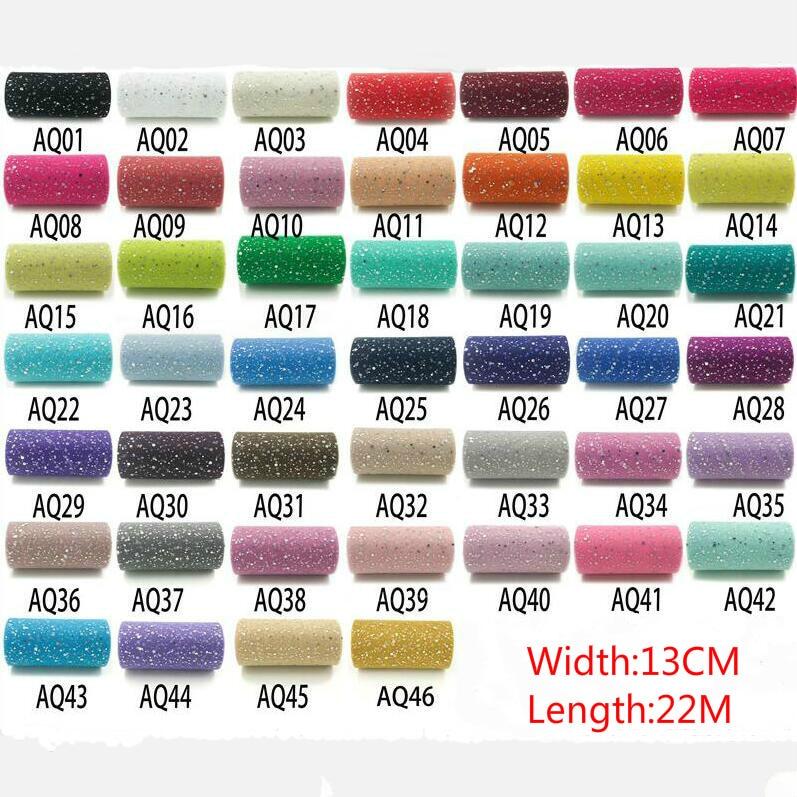 25YardX13cm Glitter Sequin Tulle Roll Crystal Organza