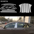 For Ford Focus 3 Sedan 2012 2013 2014 Car Full Window Trim Decoration Door Side Strips Auto Cover Car-Styling Auto Accessories