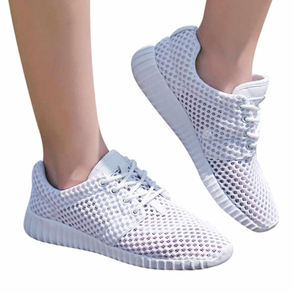 KANCOOLD Licht Loopschoenen Wit Sneakers Hollow Mesh Sportschoenen Mannen/Vrouwen Ademend chaussure homme 2019 zapatillas hombre