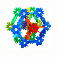 100 Pcs 3D Puzzle Jigsaw Plastic Leaves Snowflake Building Building Model Puzzle Educational Intelligence Toys For Kids 1048 pieces plastic 3d jigsaw puzzle moscow kremlin of russia building blocks kits kids puzzle game toy