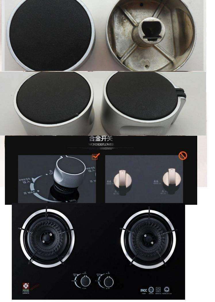 Type A 4PCS /0 Degree 8mm Rotary switch gas stove parts gas stove knob zinc alloy round knob with chrome plating for gas stove mexi 2pcs 8mm hole metal gas stove cooker rotary switch knobs left
