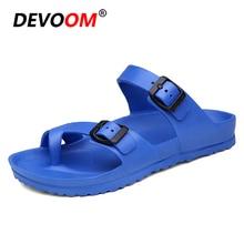 Solid Slippers Men 2018 Summer Fish Slippers Comfort Croks Sandalias Fashion Men Flip