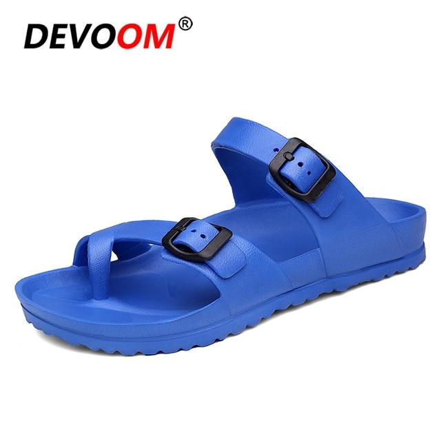 0160c9df477c3 Solid Slippers Men 2018 Summer Fish Slippers Comfort Croks Sandalias Fashion  Men Flip Flops Integrated EVA