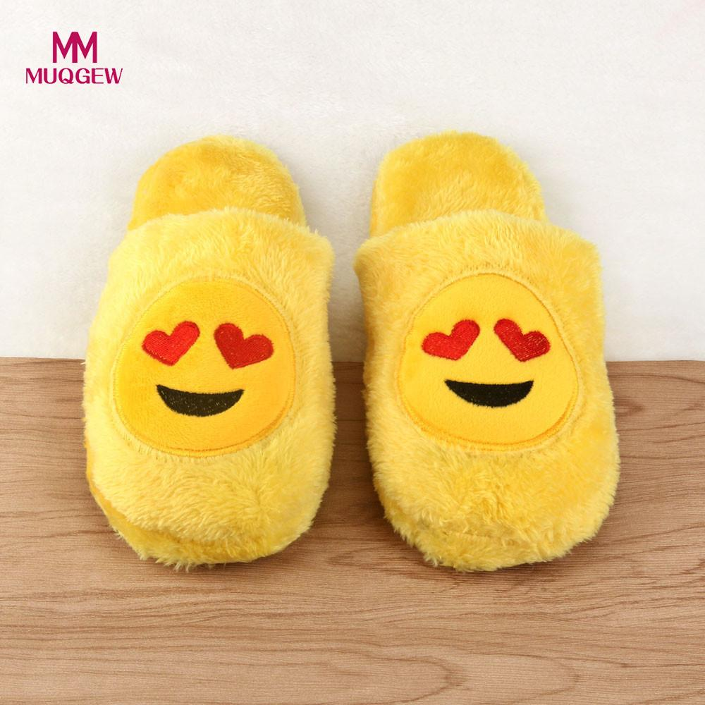 Men Women Cute Slippers Unisex Emoji Cute Cartoon Slippers Spring Warm Cozy Soft Stuffed Household Creative Indoor Shoes