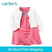 Carter s 2pcs baby children kids clothing girl spring summer 1 Piece Bodysuit Dress Cardigan Set