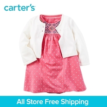 Carter's 2pcs baby children kids clothing girl spring&summer 1-Piece Bodysuit Dress & Cardigan Set cute for any occasion 121H131