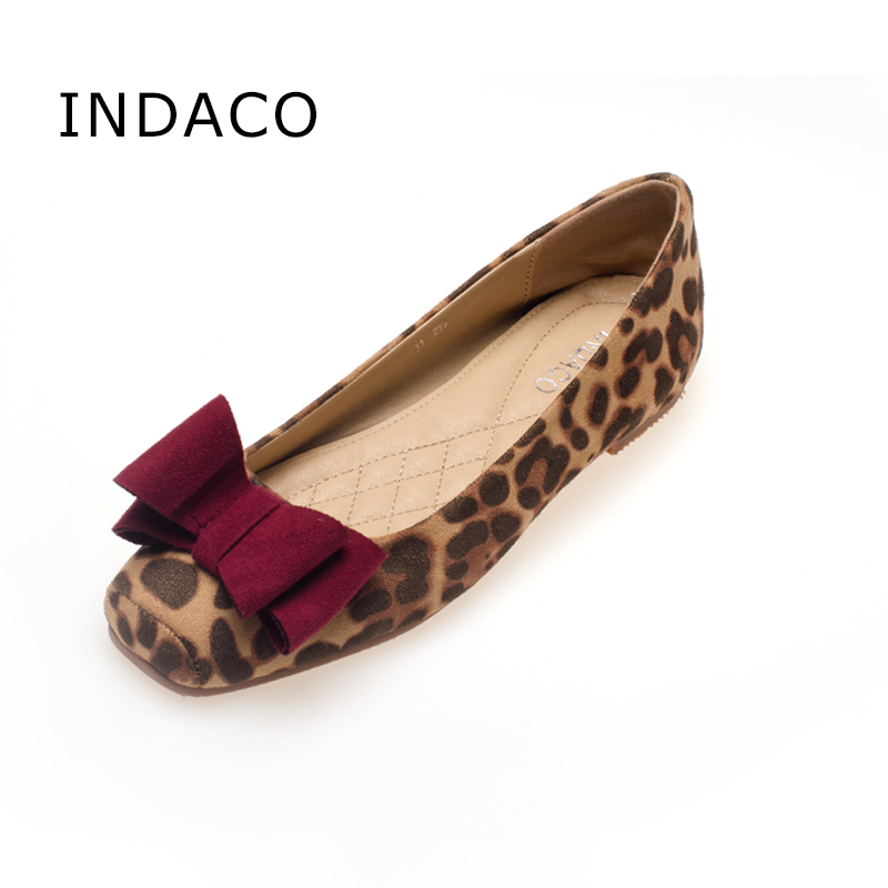 big size 41 leopard flat shoes suede square