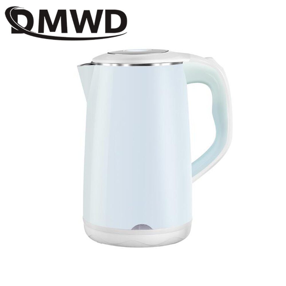 DMWD Auto power off Electric kettle Household 1.8L Stainless Steel Instant Heating Hot Water Boiler Thermal TeaPot Heater EU US dmwd household electric heating kettle insulation boiler heater stainless steel anti burning hot water bottle coffee pot eu us