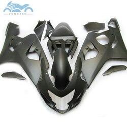Wysokiej jakości owiewki zestaw dla SUZUKI GSXR 600 750 2004 2005 owiewki motocyklowe zestaw 04 05 GSXR 750 GSXR600 K4 k5 matowy czarny DZ56