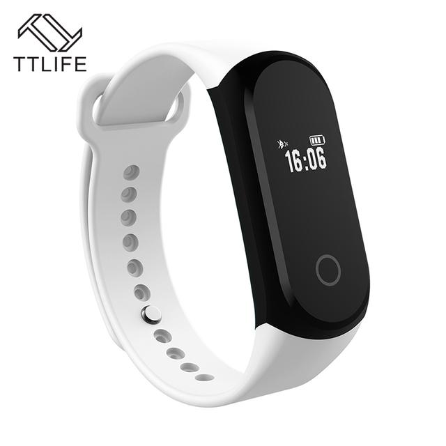 TTLIFE Marca Data de Exibição LED Pulseiras de Alerta SMS Inteligente Pedômetro Pulseiras Banda Rastreador Sono Inteligente Para IOS Inteligente Android
