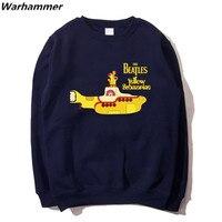 Die Beatles Yellow Submarine Hoodies Männer Rock Band Sweatshirts Trainingsanzug Casual Oansatz Marineblau S-2XL Fleece Harajuku Hoodies