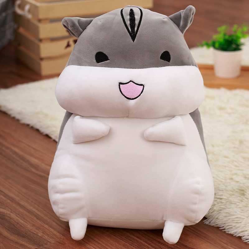 1 ADET 40cm Güzel Hamster Fare peluş oyuncak yumuşak doldurulmuş hayvan Bebek Kawaii Doğum Günü noel hediyesi Çocuklar için Sevimli Çocuklar Bebek Bebek