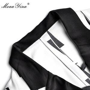 Image 4 - MoaaYina ensemble de créateurs de mode printemps été femmes à manches courtes col en v hauts de bureau + jambe large clochette bas deux pièces costume