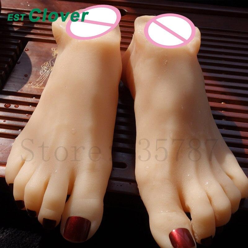 Fake Vagina Male Masturbator Silicone Fake Foot Loving Feet Sex Toys For Men C155