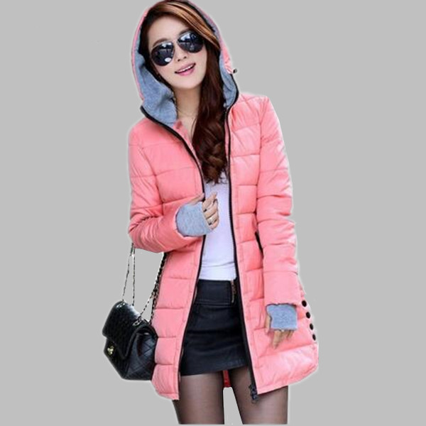 437560b7653 Women Hooded Cotton-Padded Jacket Winter Medium-Long Cotton Coat Plus Size  Down Jacket