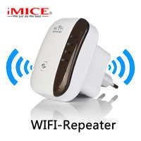 Repetidor WiFi inalámbrico extensor Wifi 300Mbps amplificador WiFi 802.11N amplificador Wi-fi de largo alcance refono Wi-fi repetidor Punto de Acceso