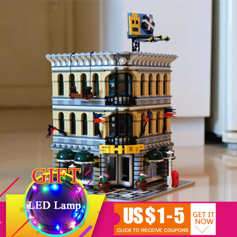 15005 2232pcs Grand Emporium City Series set Compatible with 10211 Model Building Blocks Kits Brick toys classic lele 30004 grand emporium creator architecture building blocks bricks toys diy for children model compatible with 10211