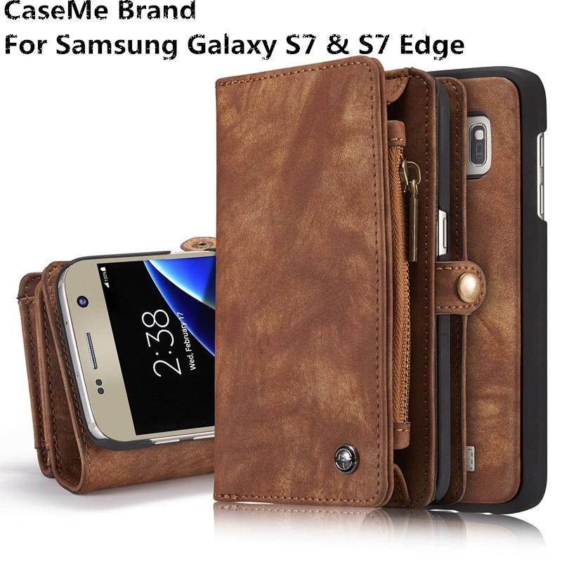 sFor Samsung Galaxy S7 / S7 Edge Case Lyx äkta läder hantverk - Reservdelar och tillbehör för mobiltelefoner - Foto 1