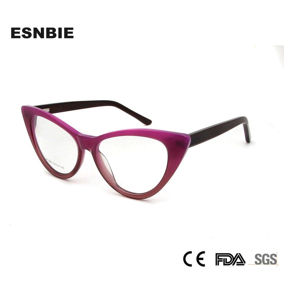 53e5f8d7186 Detail Feedback Questions about ESNBIE Acetate Cat Eye Spectacles Ladies Cats  Eye Glasses Frames For Women Prescription Eyewear Frames Full Rim Optical  ...