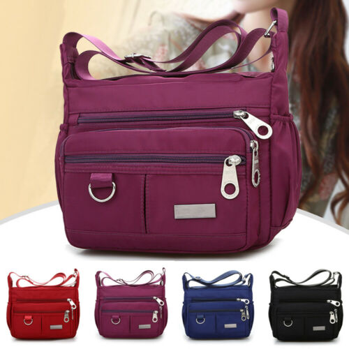 Women Multi Pocket Messenger Cross Body Handbag Ladies Hobo Bags Shoulder Bag Waterproof  Crossbody Shoulder Bag For Women 2019