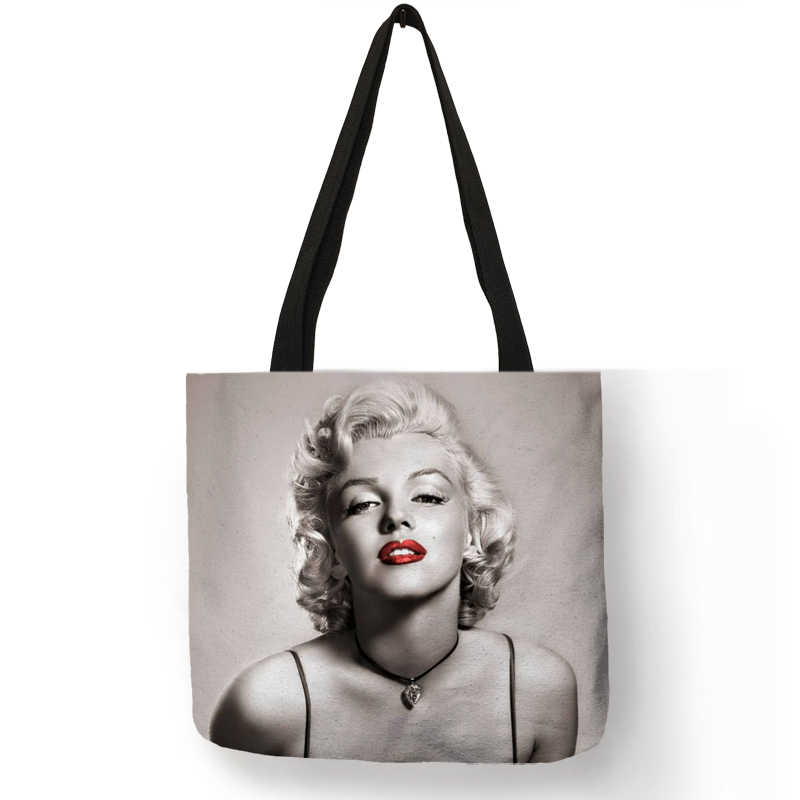 11e2a867d56c Detail Feedback Questions about Customized Famous Monroe Reusable Shopping  Bag Eco Linen Bags With Quotes Print Women Fashion Handbags Dropshipping on  ...