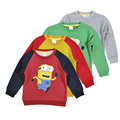 New 2016 Boy Clothes Anime pattern Children T shirts Cotton Sweatshirt Kids Long Sleeve Girl nova T-shirt Autumn Spring Top Tees