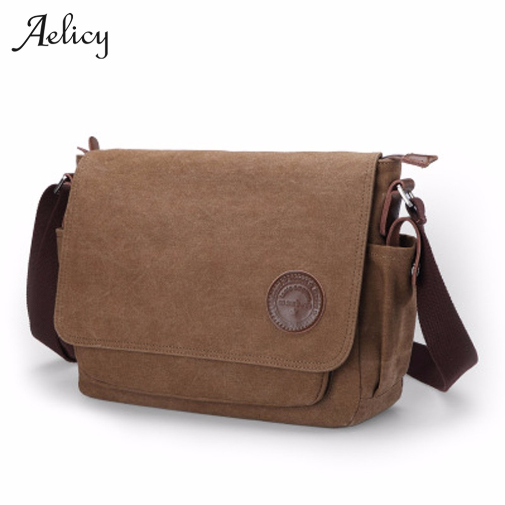 Aelicy High Quality intage Canvas Men's Crossbody Bag Men Daily Life Shoulder Bags For Men Travel Crossbody Bag Male Sling bag