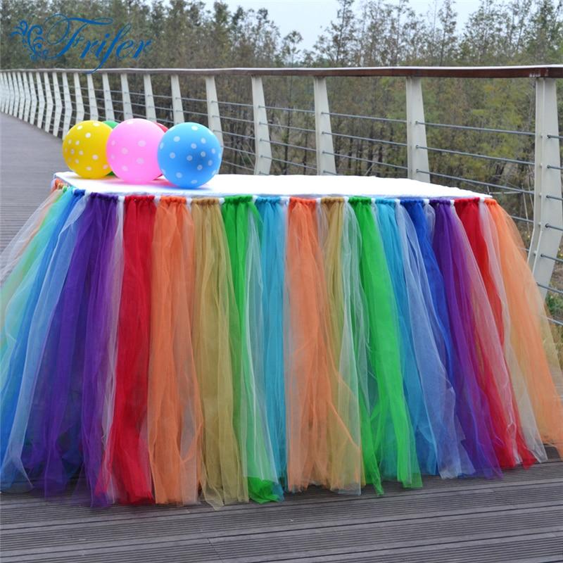 Fantastic Wonderland galda svārki roku darbs krāsains tills TUTU - Mājas tekstils