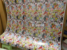 Sticker Bomb Vinyl Wrap Sticker Bomb Decal Air Bubble Free For Auto Graphics Motorcyle Mcabook 30M/Roll