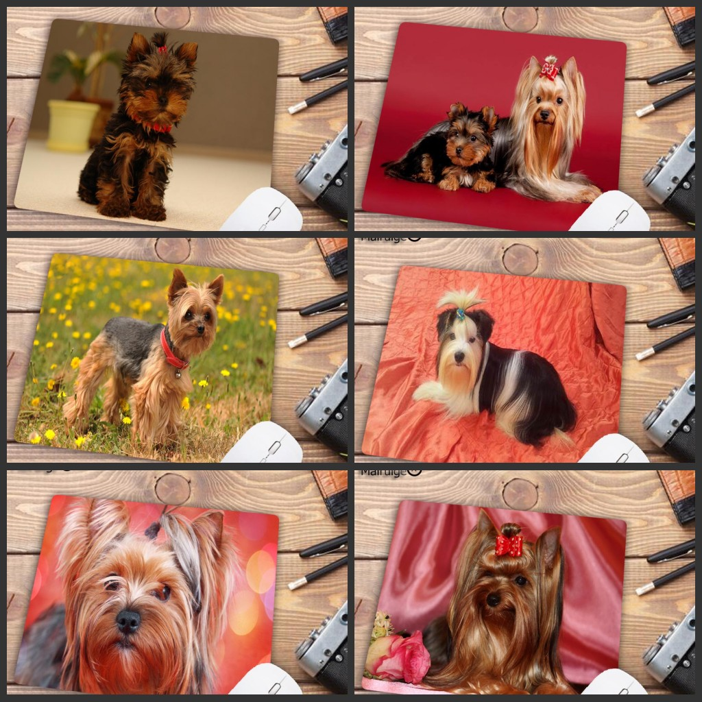 Mairuige Big Promotion  Yorkshire Terrier Dog Puppy Comfort Small Mouse Mat Gaming Mouse Pad Size 18x22cm Rubber Mousemats