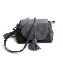 2New Arrival Genuine Leather Female Shoulder Bag Tassel Women Crossbody Bag 2019 Fashion Messenger Bag Small Flap Bags for Lady