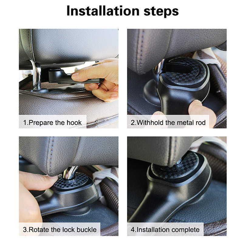 Car Headrest Hook with Phone Holder Vehicle Hidden Seat back Hanger Car Bag Storage Stowing Tidying Car Back Seat Organizer Hook in Stowing Tidying from Automobiles Motorcycles