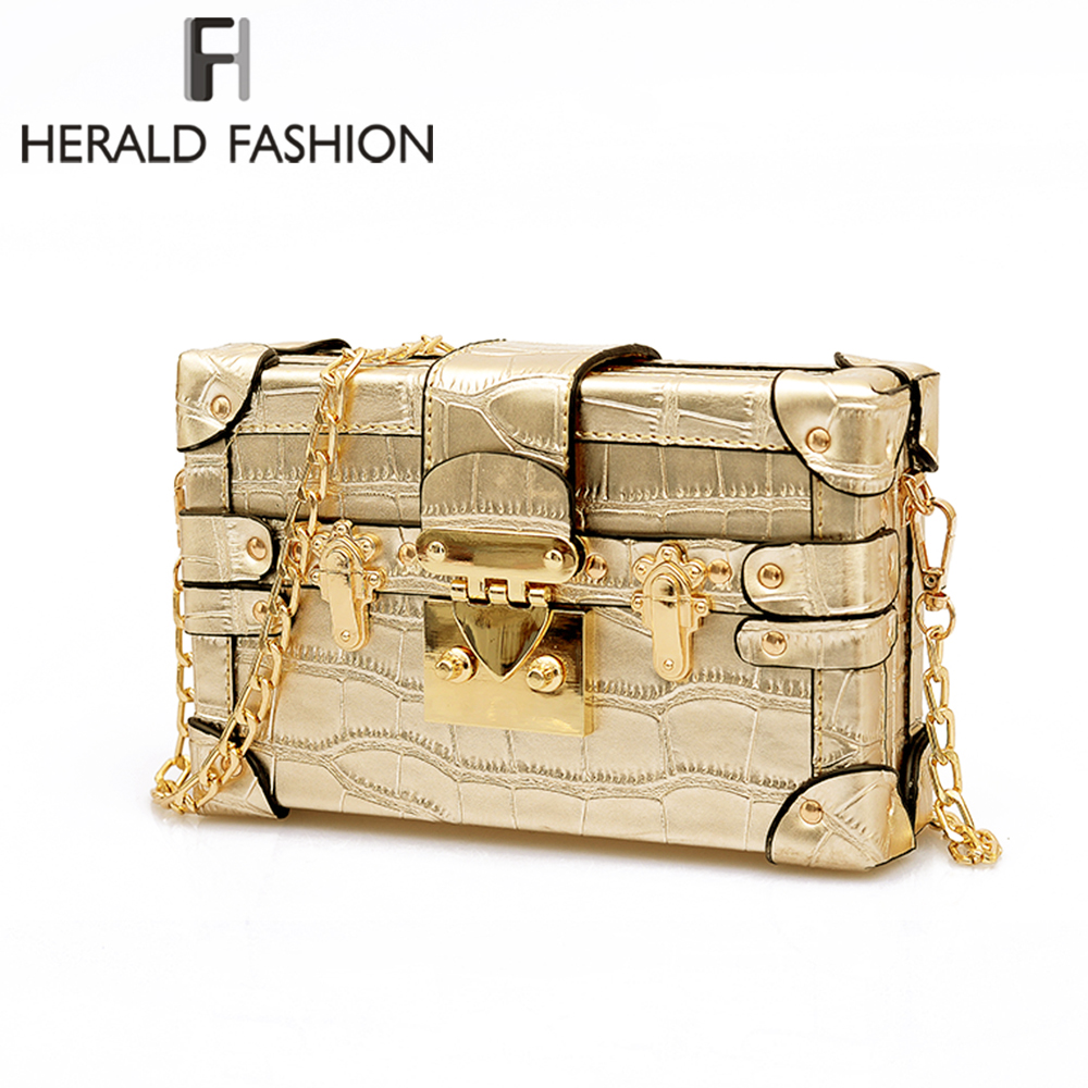 Herald Fashion Vintage Handbags Clutch Retro Women Messenger Bags Panelled Box Bag Rivet Crossbody Shoulder Bags Small Handbag vintage handbags clutch retro women messenger bags panelled box bag rivet crossbody shoulder bags small handbag purse sac a main