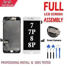 フルセット完全な iphone 7 グラム 8 グラム 7 8 プラス液晶完全なアセンブリ表示タッチスクリーンデジタイザフロントカメラなしホームボタン