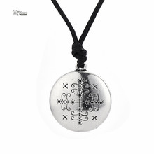 Collar de cadena con eslabones vudú Legba Vintage en mi forma, colgante de Altar Ritual, Gargantilla Talismán, medallón oculto, collar de declaración de amuleto