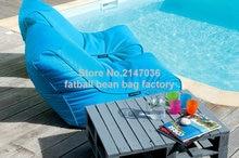 Praia do saco de feijão cadeira, assento do sofá do jardim ao ar livre, beanbag sitsack externo, porta lateral conjunto de móveis para casa