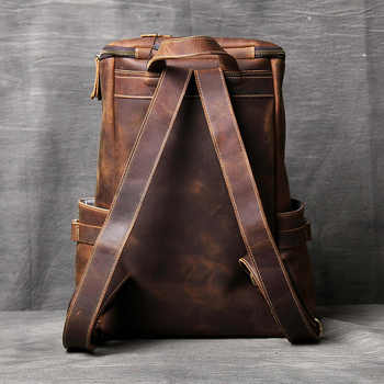 AETOO Handmade leather Shoulder Bag original head cowhide Backpack men and women mountaineering bag mad horse Skin travel Bag