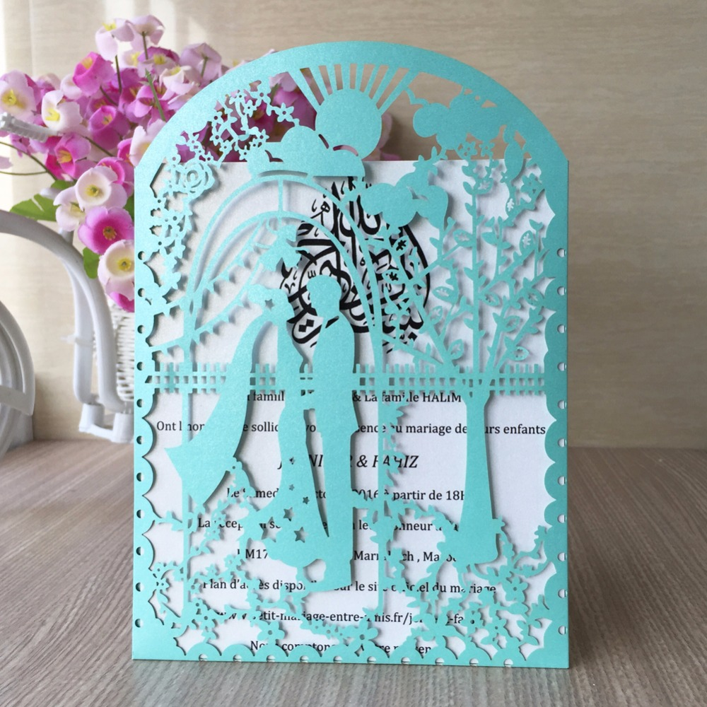 50pcs Wedding Invitations Card Decoration Place Birthday Party