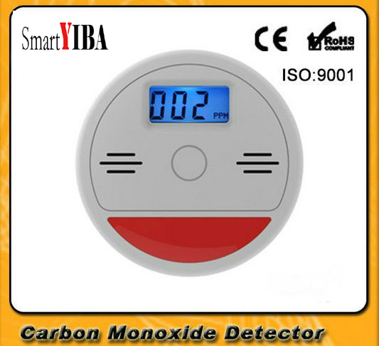 SmartYIBA Home Security 85dB Warning LCD Photoelectric Independent CO Gas Sensor Carbon  ...