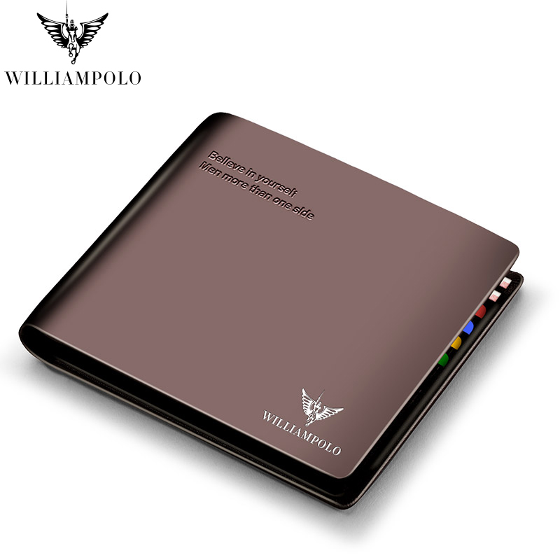 WILLIAMPOLO Men Male Wallet Vintage Casual Style Wallet Card Holders Multi Pockets Purse For Men PL171321