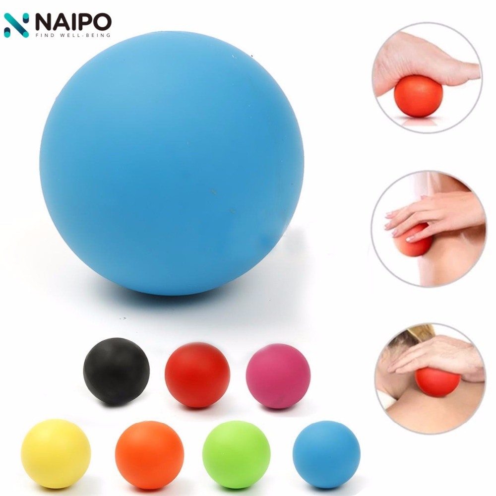 Naipo Lacrosse Massage Cross Ball 7cm Mobility Myofascial Trigger Point Release Injury Gym Exercise Hand Should Body Massage