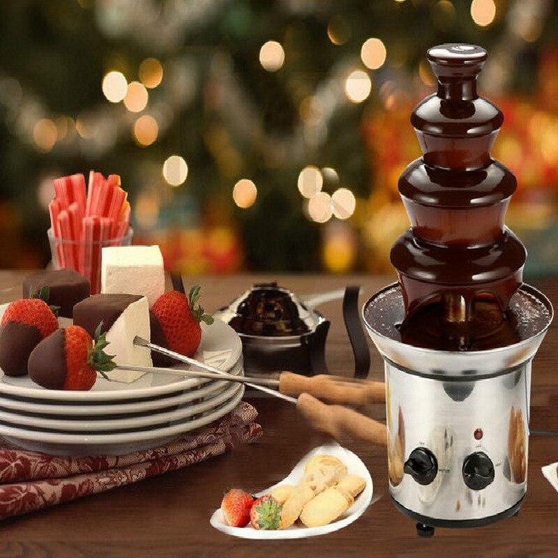 Événement de fête de tour de fusion automatique de cascade de fontaine de chocolat de bricolage de quatre étages