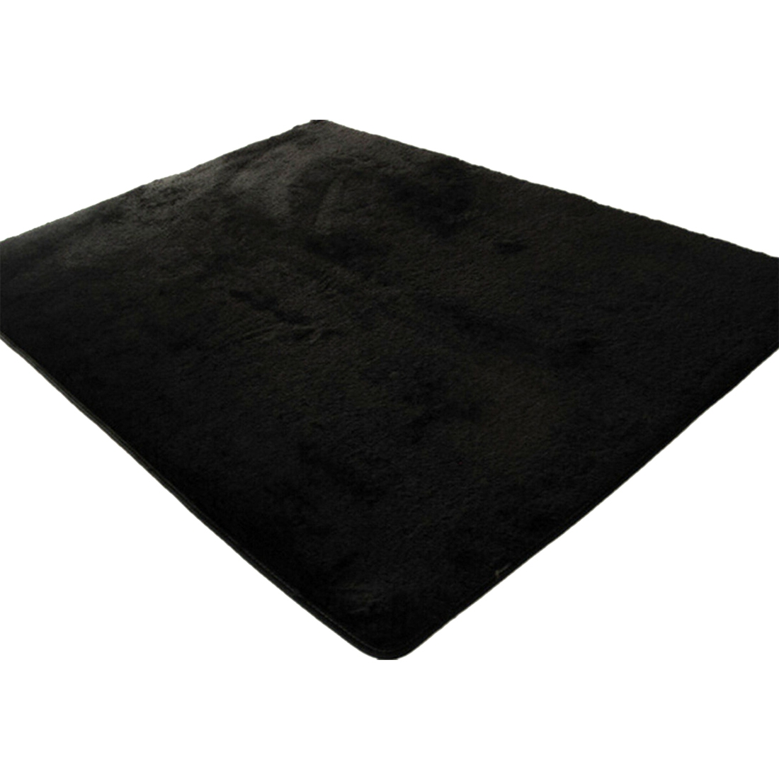 Black Bedroom Rug