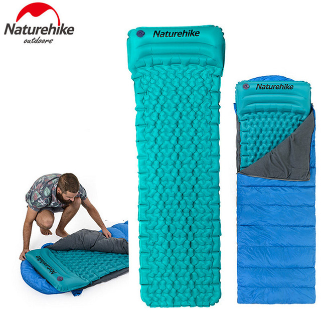 Naturehike Nh17t024 T Ing Sleeping Bag Mat Inflatable Tpu Moisture Proof Pad With Pillow