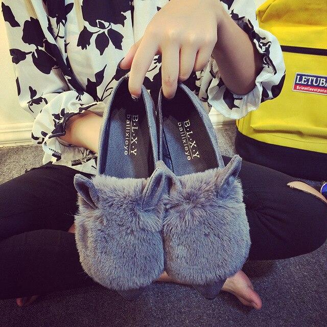 Мода Тапочки Женщины Зима 2016 Новый Милый Животных Обувь Плюс Теплая Квартира Мелкой Pantoufle Femme Забавный Взрослых Дешевые Zapatos Mujer