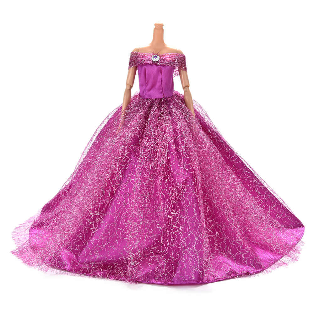 2018 7 Colors Available High Quality Handmake Wedding Princess Dress Elegant Clothing Gown For for Barbie Doll Dresses
