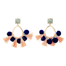 Handmade Women Pompon Ball Tassel Earrings Brincos Aliexpress Fashion Pending Ethnic Earrings Jewelry