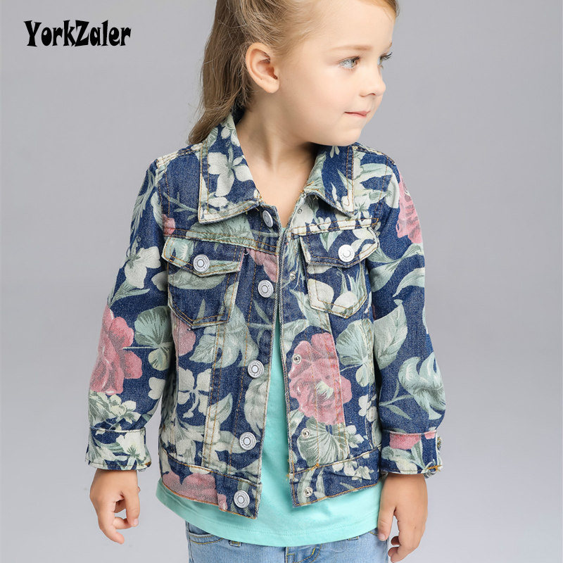 Spring/Autumn Floral Casual Girl Coat Toddler Baby Long Sleeve Children Demin Outerwear 3-8Y Kids Jacket Flower Girl Jeans Tops Spring/Autumn Floral Casual Girl Coat Toddler Baby Long Sleeve Children Demin Outerwear 3-8Y Kids Jacket Flower Girl Jeans Tops